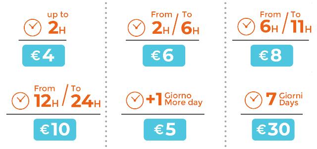 luggage storage catania prices